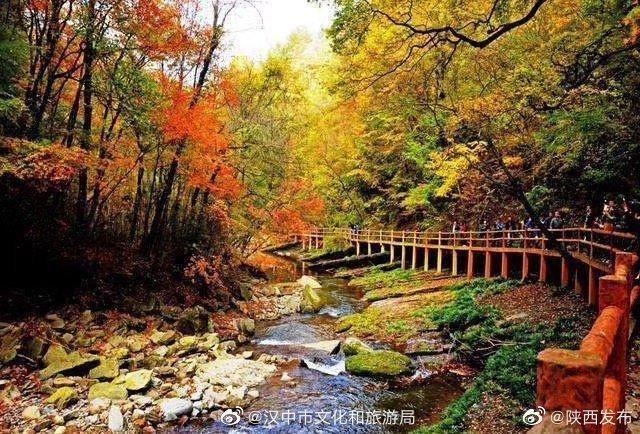 [汉中]汉中这个景区的红叶已进入最佳观赏期