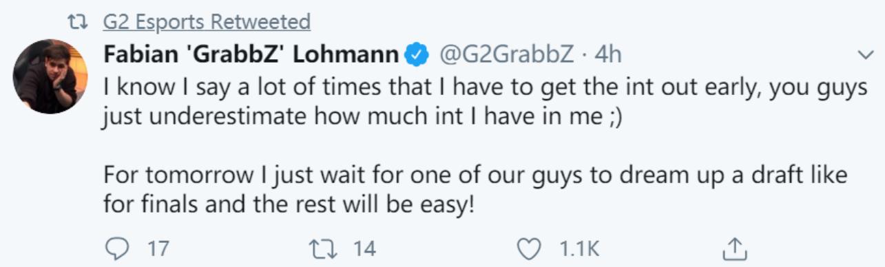 《【煜星注册链接】G2负于SK赛后Jankos: 这个赛季的竞争将会变得非常激烈》