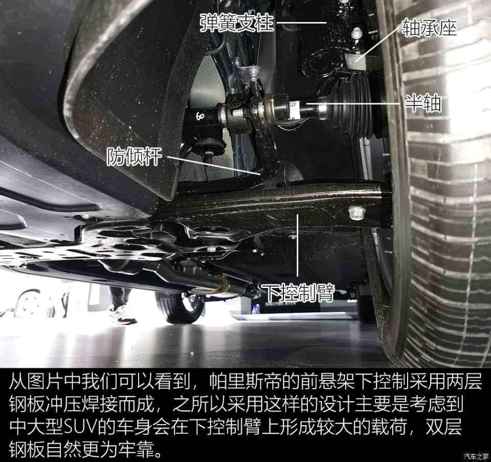 進口大七座SUV 現代帕裡斯帝底盤解析-圖5