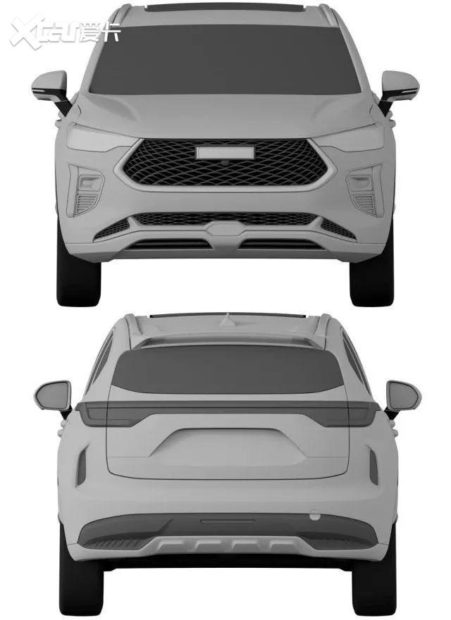 看個新車丨外觀、內飾設計全曝光, 哈弗全新SUV或將接替H2-圖2