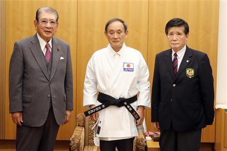 日媒: 菅義偉被授予空手道名譽九段-圖4
