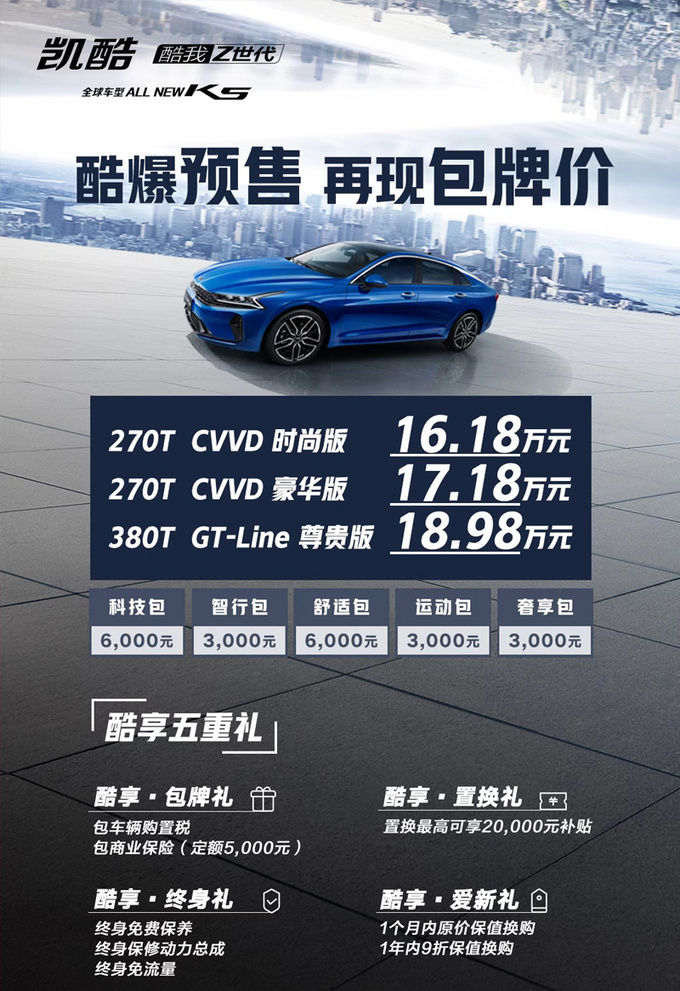 起亞全新K5凱酷預售! 16.18萬元起-尺寸同級最大-圖4