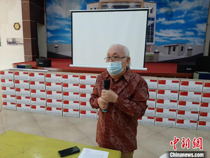 中國駐棉蘭總領館向印尼蘇北省穆斯林團體捐贈生活物資-圖2