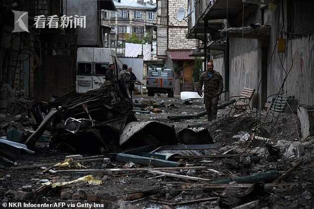 納卡地區首府大街上驚現國際禁用集束炸彈 系阿塞拜疆炮擊中使用-圖9