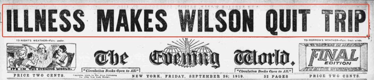 總統病瞭: 美國前總統威爾遜罹患1918大流感的前前後後-圖4