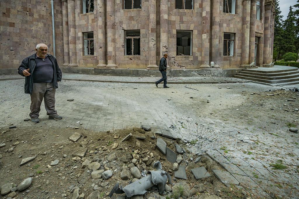 亞美尼亞稱阿塞拜疆炮擊馬爾圖尼鎮-圖6