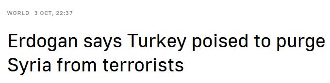 土耳其總統埃爾多安威脅將對敘利亞采取新一輪行動-圖2